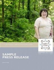 SAMPLE PRESS RELEASE - Curvy Yoga