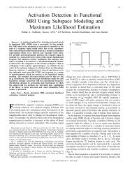 Activation Detection In Functional MRI Using Subspace Modeling ...