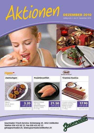 DEZEmbER 2010 - Gourmador Zollikofen