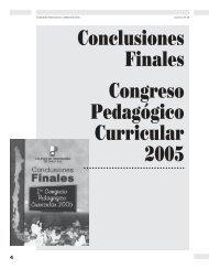 Conclusiones Finales Congreso Pedagógico ... - Revista Docencia