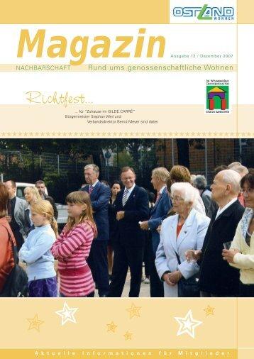Richtfest... - OSTLAND Wohnungsgenossenschaft eG