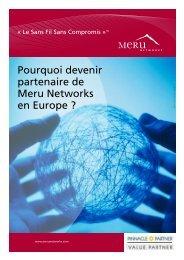 Découvrir le programme partenaires Meru Networks