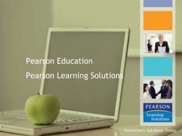 Pearson Education Pearson Learning Solutions