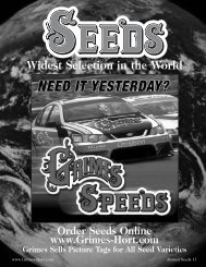 Widest Selection in the World - Grimes Seeds Online Store