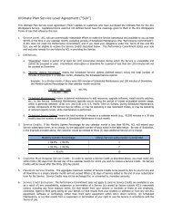 Ultimate Plan Service Level Agreement - Acl.com