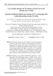 Use of stable nitrogen (δ15N) isotopes in food web of the ... - RMZ