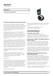 Sony : Informations produit : HXR-MC1P (HXRMC1P) : Maroc