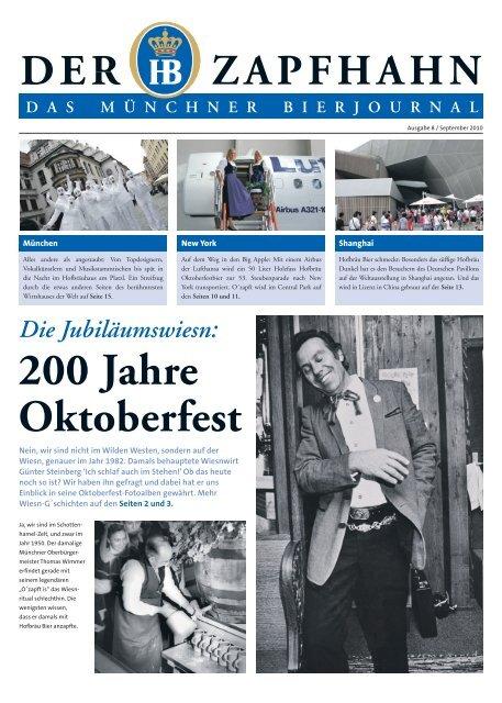 200 Jahre Oktoberfest Staatliches Hofbrauhaus In Munchen
