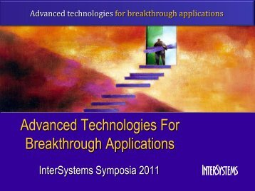 Advanced Technologies For Breakthrough Applications