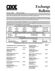CBOE Exchange and Regulatory Bulletin - CBOE.com