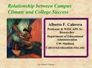 Success and Campus Climate - Alberto Cabrera (PowerPoint ...