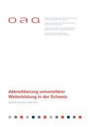 Qualitätsstandards für universitäre Weiterbildungsstudiengänge PDF