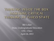 Thinking Inside the Box - California State University, East Bay