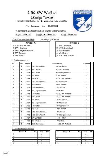 Koenigsturnier 1 - 1. SC Blau-Weiss Wulfen