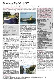 Flandern, Rad & Schiff - RadelReisen WILKE TOURISTIK