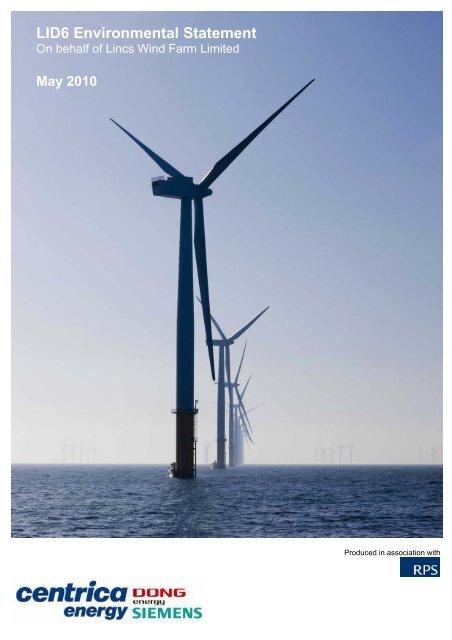 Lincs Offshore Wind Farm LID6 Environmental Statement     - Centrica