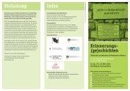 Erinnerungs(ge)schichten - Heinrich-Böll-Stiftung Schleswig-Holstein