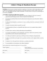 Athletic Handbook - Lake Havasu Unified School District