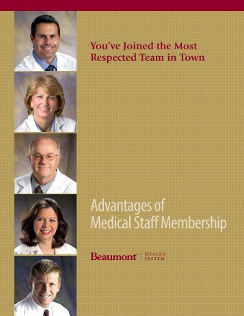 """advantages"" book for Beaumont physicians"