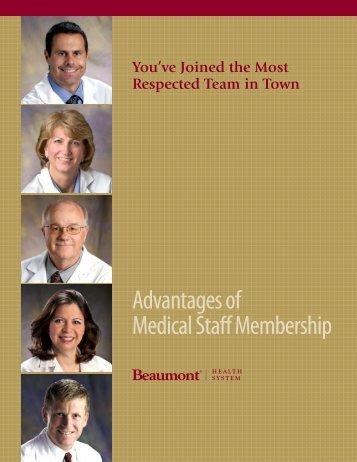 """advantages"" book for Beaumont physicians"