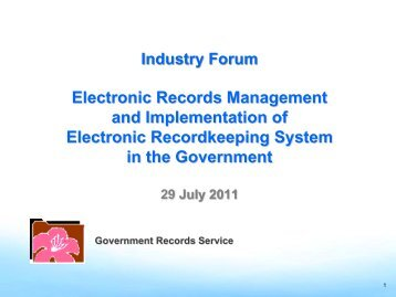 Electronic Records Management and Implementation of Electronic ...