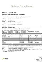CLAY LINTELS - CSR