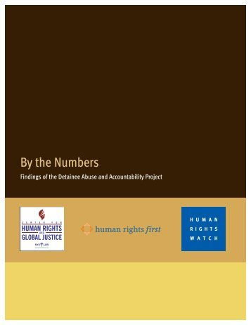 CHRGJ - By the Numbers: Findings of the Detainee Abuse and ...