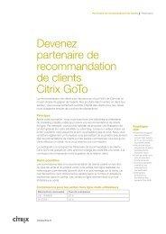 Présentation du programme de référence partenaires - Citrix Online