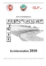 Kreis 27 Recklinghausen Kreisbestenliste 2010 - flvw-re.de