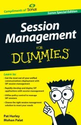 Session Management For Dummies, Sonus ... - Sonus Networks