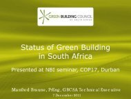 Status of Green Building in South Africa