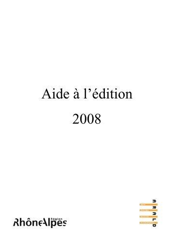 Aide à la publication en Rhône-Alpes - Arald