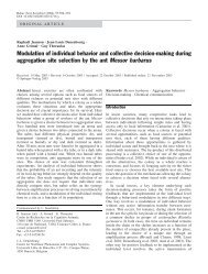 Modulation of individual behavior and collective decision-making ...