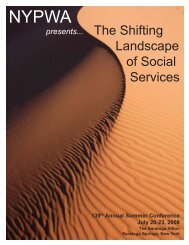 The Shifting Landscape of Social Services - New York Public ...
