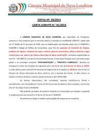 Edital Carta Convite 012013 - corrigido - Prefeitura de Nova Londrina