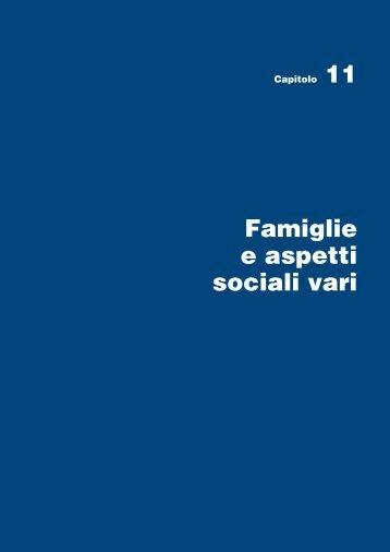 Famiglie e aspetti sociali vari