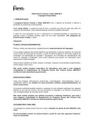 Rumos Cinema e Vídeo 2009 – 2011 - Itaú Cultural