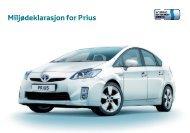 Miljødeklarasjon for Prius - Toyota