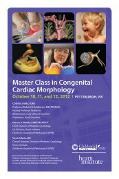Master Class in Congenital Cardiac Morphology - CCEHS - UPMC