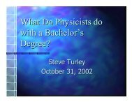 What Do Physicists do with a Bachelor's Degree? - Steve Turley
