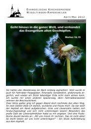 Beilage 04-05-2012 - Evangelische Kirchgemeinde Wigoltingen ...