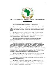 OAU Convention on the Prevention and Combating of Terrorism