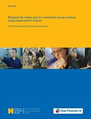 Bridging the safety gap for vulnerable young workers using ...