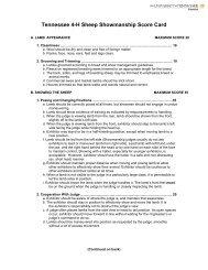 Sheep Showmanship Scorecard - Cornell Cooperative Extension of ...