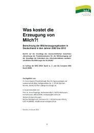 Milch-Vollkostenstudie (Deutschland) - IG-Milch