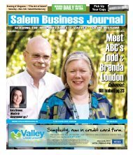 Nov 2011 - Salem Business Journal