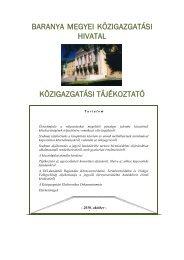 baranya megyei közigazgatási hivatal közigazgatási tájékoztató