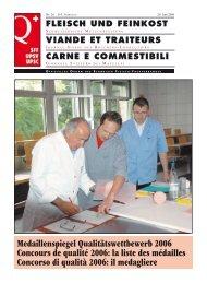 Medaillenspiegel Qualitätswettbewerb 2006 Concours de qualité ...