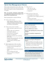 Pain Management Policies - Long-Term Care Best Practices Toolkit