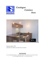 catalogue cuisines inox Savinox 3